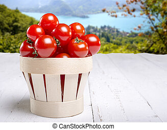 Tomato it in a basket