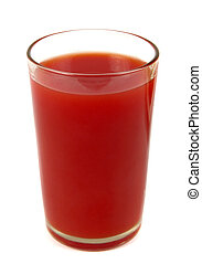 tomato juice closeup in glass