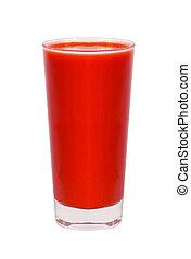 tomato juice glass isolated