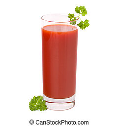 tomato juice glass