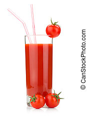 Tomato juice in a glass