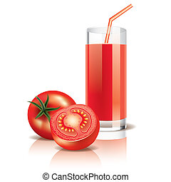 Tomato juice vector illustration