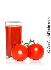 tomato juice with vine ripe tomato
