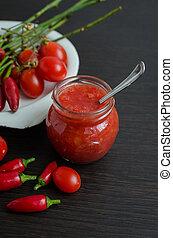 Tomato ketchup hot sauce