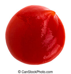 Tomato ketchup isolated on a white background