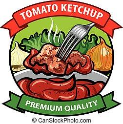 tomato ketchup label design