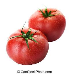 Tomato Over White
