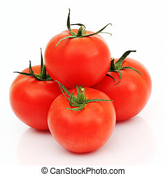 tomato pile slice isolated on white