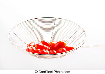 Tomato Queen on white background