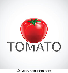 Tomato realistic poster