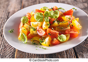 tomato salad with basil