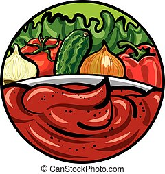 tomato sauce and vegetables