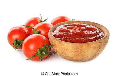 tomato sauce - Tomato sauce isolated on white background