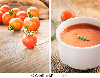 Tomato soup collage
