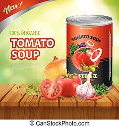 Tomato Soup Packshot Background