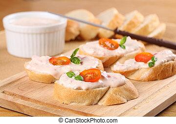 Tomato spread - Healthy sandwiches with delicious tomato ...