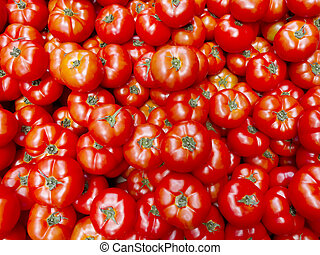Tomato - Stack of ripe and plump red tomatoes