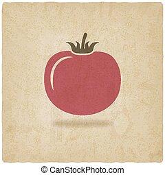 tomato symbol old background