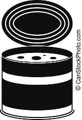 Tomato tin can icon, simple style