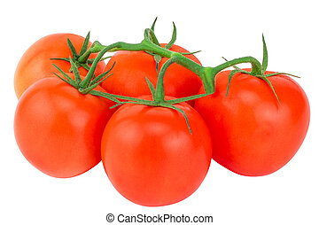 Tomato. Tomato branch. Tomatoes isolated on white. With...