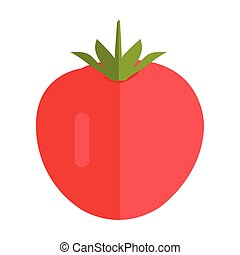 Tomato Vector Illustration in Flat Style Design.  red