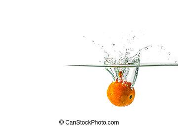 Tomato Water Splash background blur