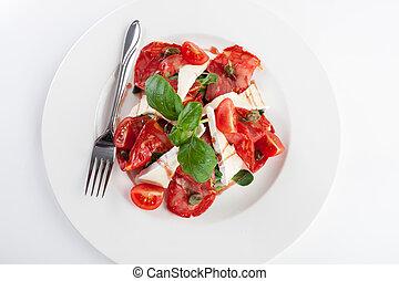 Tomato white cheese salad