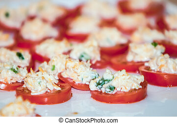 tomato with cheese garlic appetizer