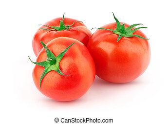 Tomato with green leaf - Beautiful issolated tomato with...