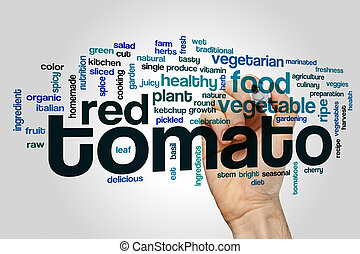 Tomato word cloud concept