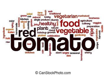 Tomato word cloud concept