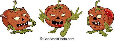 Tomato zombie - Vector tomato zombie