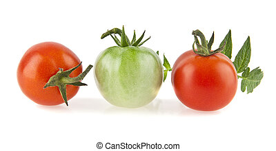 tomatoes are isolated on a white background