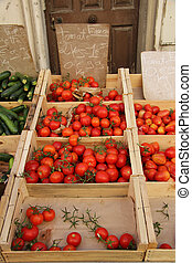 tomatoes at a French market