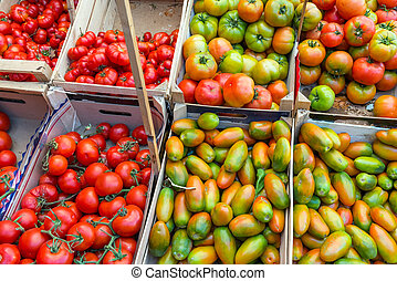 Tomatoes at a market in Palermo