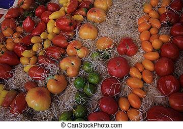 Tomatoes at a Provencal market