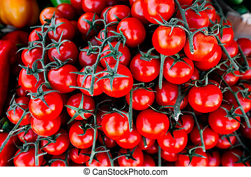 Tomatoes at the morning market