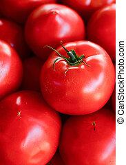 Tomatoes background macro shot