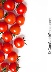 tomatoes background - tomatoes on white with space for copy