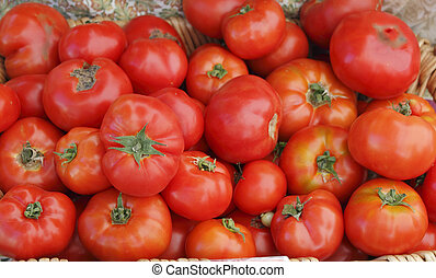 Tomatoes in a basket.