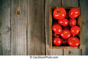Tomatoes in a box
