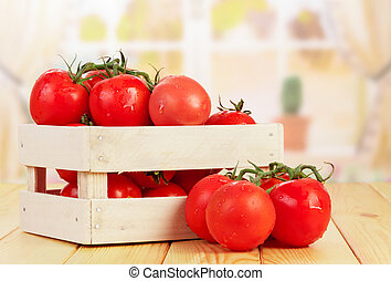 Tomatoes in crate