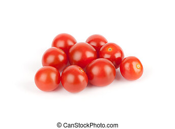 tomatoes isolated on the white