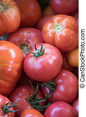 Tomatoes on a market