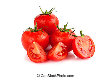Tomatoes on isolated background
