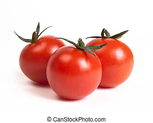 tomatoes - three tomatoes isolated on white background