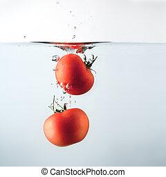 Tomatoes splash