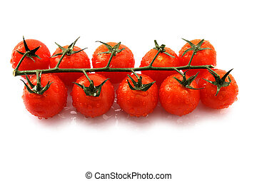 Tomatoes - image of fresh red tomatoes in white.