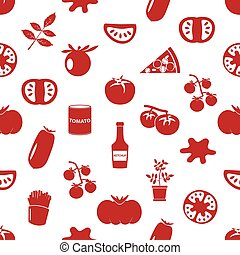 tomatoes theme simple icons red seamless pattern eps10