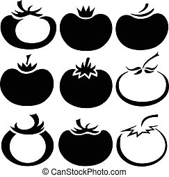 Tomatoes - Vector illustration of tomato in different styles